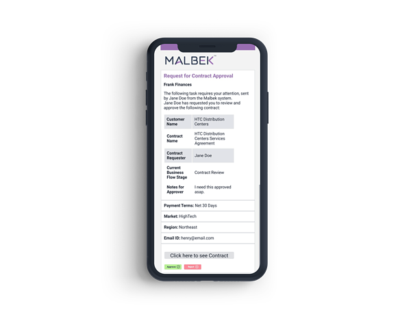 Mobile Contract Approval